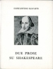 Due prose su Shakespeare